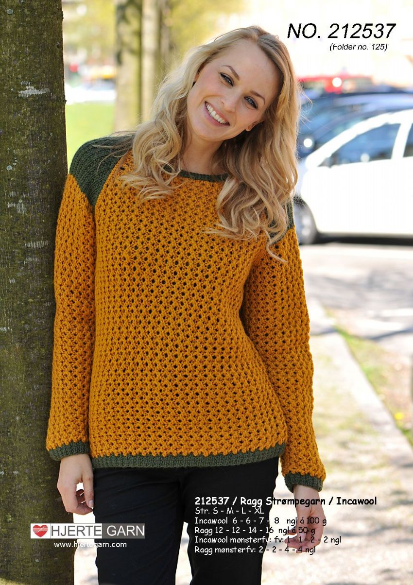 INCAWOOL HUNTING SWEATER Free Pattern